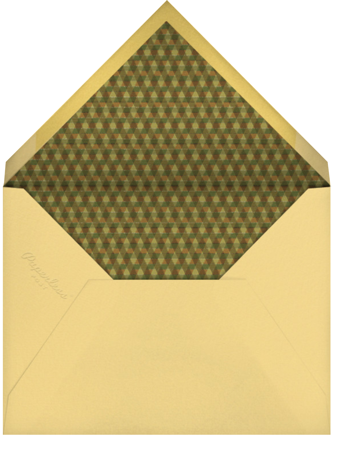 Horn of Plenty (Invitation) - Paperless Post - Autumn entertaining - envelope back