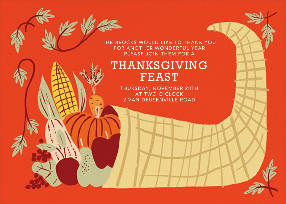 Horn of Plenty (Invitation) - Paperless Post - Thanksgiving invitations