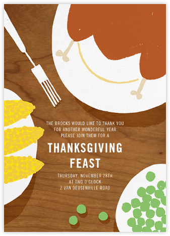 Help Yourself - Paperless Post - Thanksgiving invitations