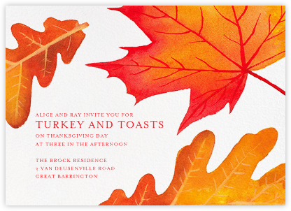Falling Leaves - Paperless Post - Thanksgiving invitations