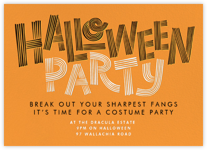 Spooky Strokes - Paperless Post - Halloween invitations