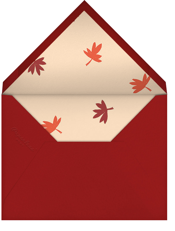 Ever Thankful - Paperless Post - Thanksgiving - envelope back