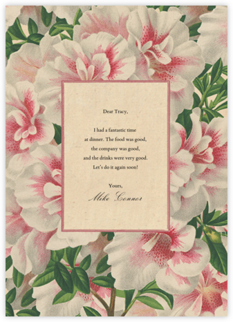Azalea Frame (Greeting) - John Derian - Thank you cards