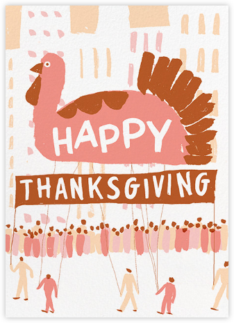 Feathered Float - Paperless Post - Thanksgiving Cards