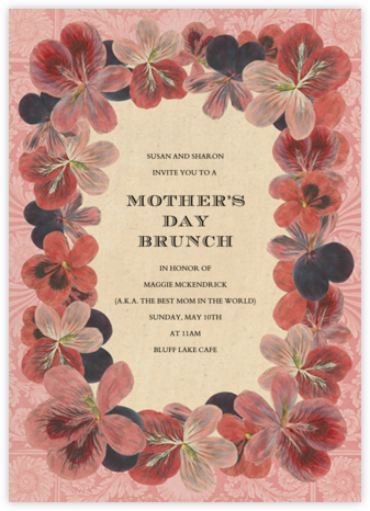 Pelargonium (Invitation) - John Derian - Online Mother's Day invitations