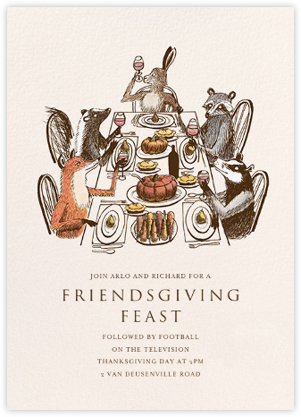 Forest Feast - Paperless Post - Thanksgiving invitations