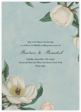 White Peony (Invitation) - John Derian - Celebration invitations