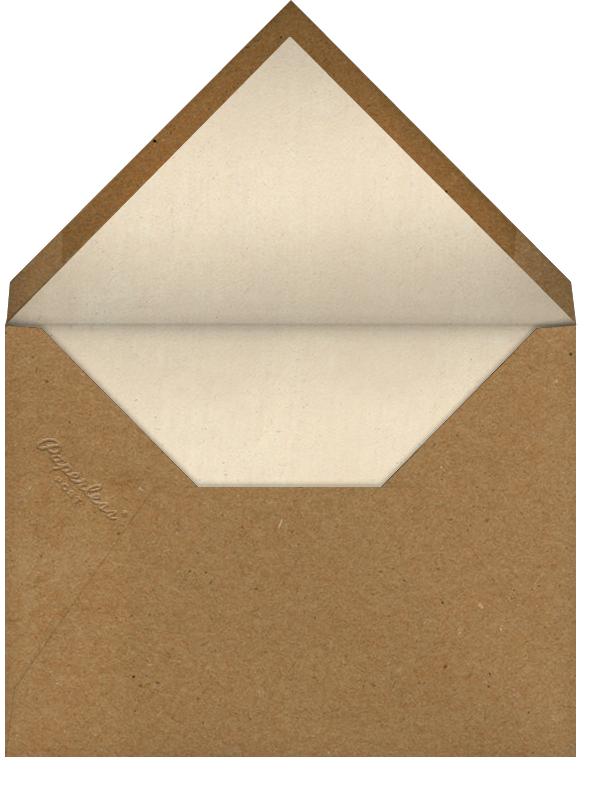 White Peony (Greeting) - John Derian - Sympathy - envelope back