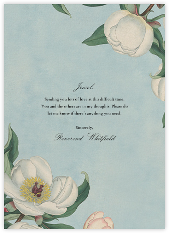 White Peony (Greeting) - John Derian - Online greeting cards