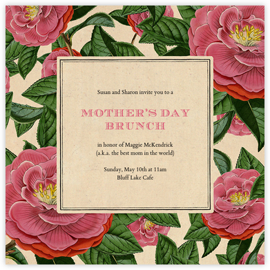 Camellia (Invitation) - John Derian - Online Mother's Day invitations