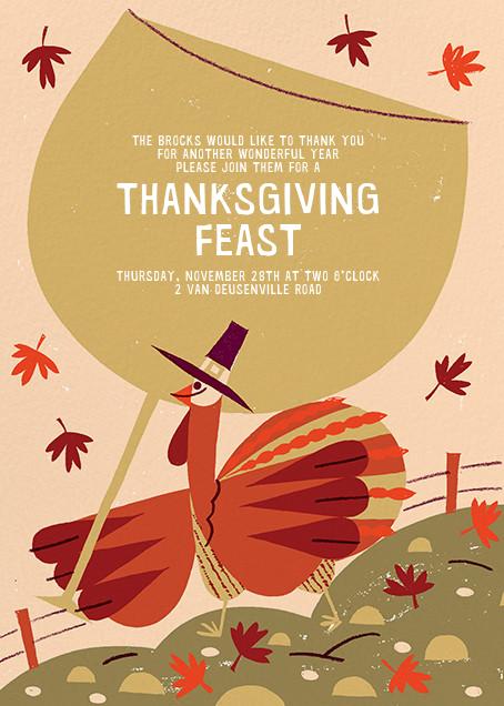 Fowl Weather (Invitation) - Paperless Post - Thanksgiving invitations