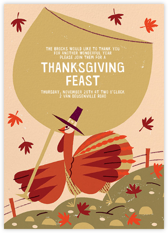 Fowl Weather (Invitation) - Paperless Post - Thanksgiving invitations