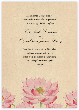 Water Lily (Invitation) - John Derian - Wedding invitations