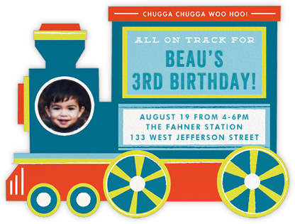 All Aboard - Cheree Berry - Birthday invitations