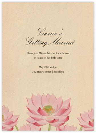 Water Lily (Invitation) - John Derian -