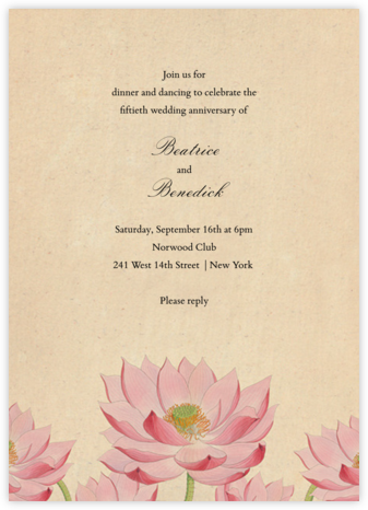 Water Lily (Invitation) | tall