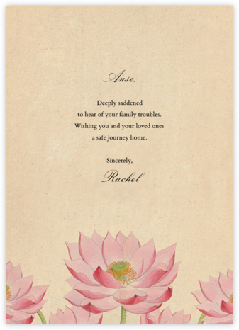 Water Lily (Greeting) - John Derian - John Derian stationery