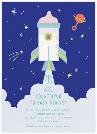 Baby Blastoff - Cheree Berry - Baby Shower Invitations