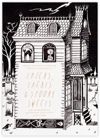 The Old Haunts - Paperless Post - Halloween invitations