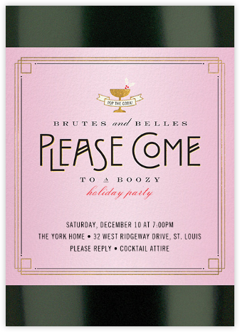Bottle Service - Cheree Berry - Holiday invitations