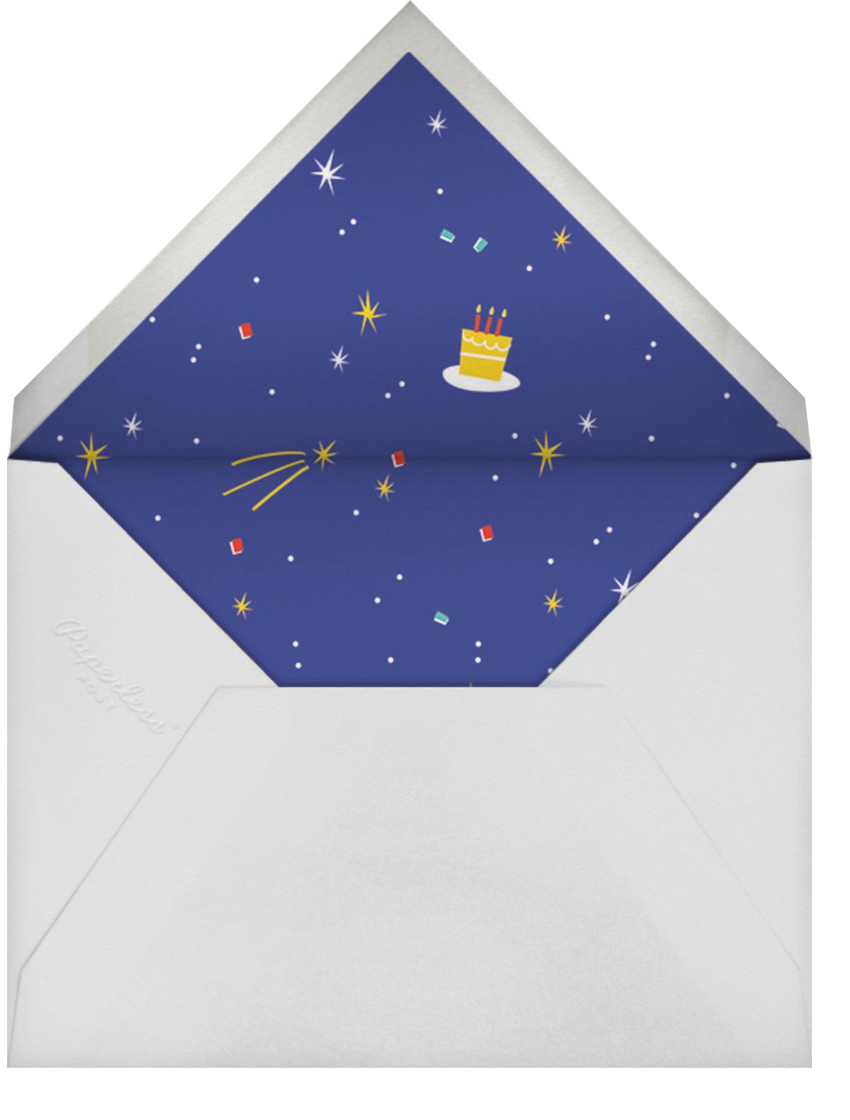 Cosmic Cake - Cheree Berry - Kids' birthday - envelope back