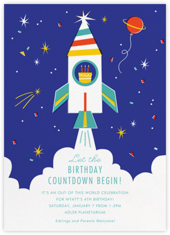 Cosmic Cake - Cheree Berry - Online Kids' Birthday Invitations