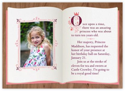Fairy Tale Fete - Woodgrain - Cheree Berry - Online Kids' Birthday Invitations