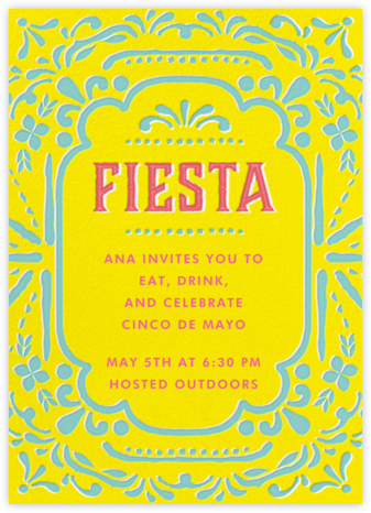 Fiesta Frame - Cheree Berry Paper & Design - Adult Birthday Invitations
