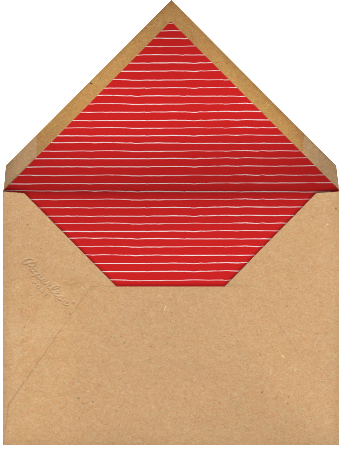 Hand Turkey (Invitation) - Paperless Post - Thanksgiving - envelope back