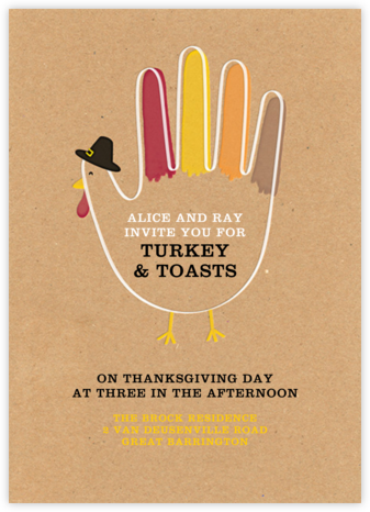 Hand Turkey (Invitation) - Paperless Post - Thanksgiving invitations