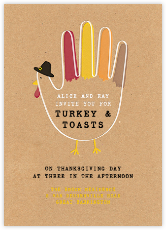 Hand Turkey (Invitation) - Paperless Post -