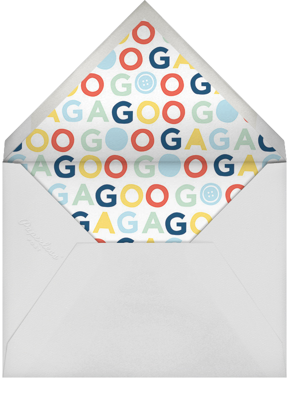 Going Gaga - Blue - Cheree Berry - Birth - envelope back
