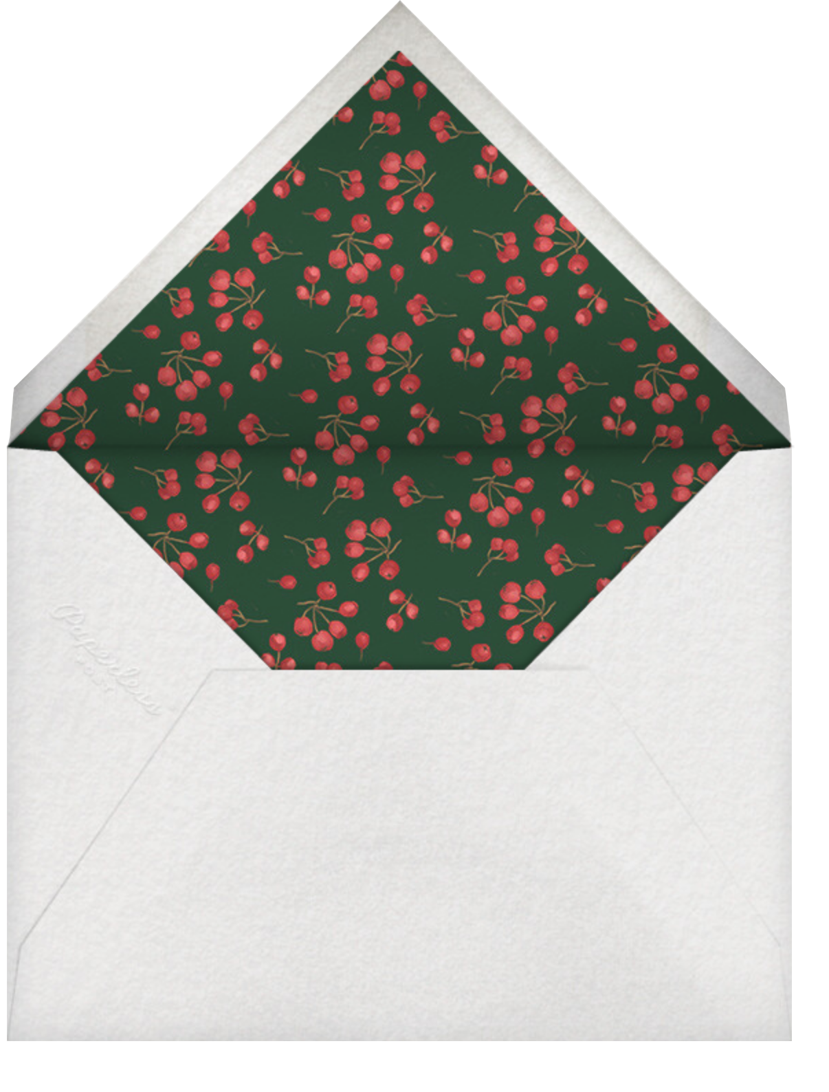 Holly Branch Holiday - Paperless Post - Holiday cards - envelope back