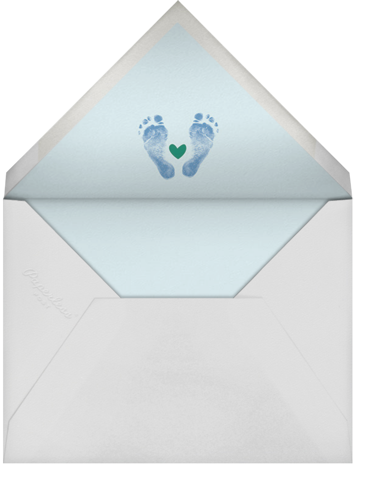 Head to Toe - Blue - Cheree Berry Paper & Design - Birth - envelope back