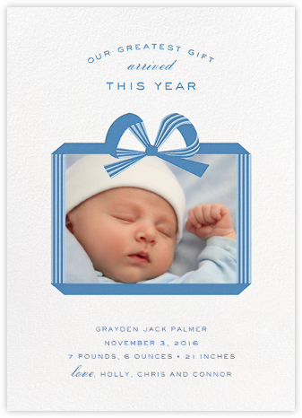 Now Presenting - Blue - Cheree Berry - Birth Announcements