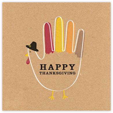Hand Turkey (Greeting) - Paperless Post - Thanksgiving Cards