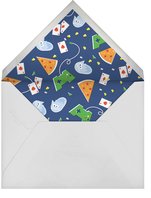 The Big Sleepover - Green - Cheree Berry - Kids' birthday - envelope back
