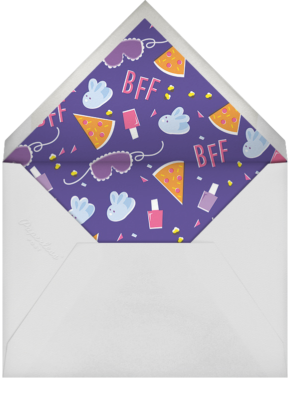 The Big Sleepover - Pink - Cheree Berry - Kids' birthday - envelope back