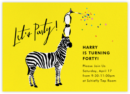Wildlife of the Party - Cheree Berry - Cheree Berry invitations and cards