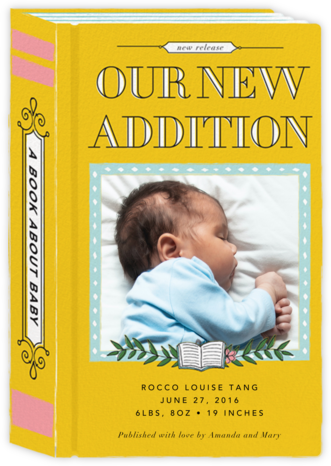 Chapter One (Photo) - Cheree Berry Paper & Design - Birth Announcements