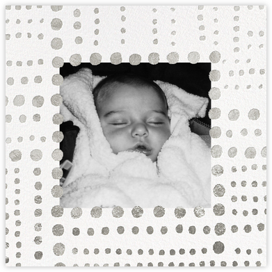 Beaded (Photo) - White - Kelly Wearstler - Birth Announcements
