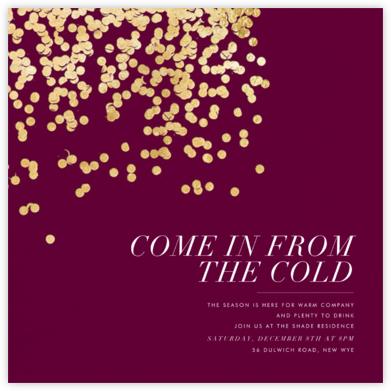 Bijou - Merlot - Kelly Wearstler - Holiday invitations