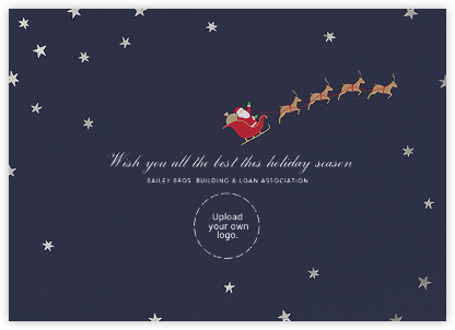 Nightly (Christmas) - Silver - Paperless Post - Use your own logo