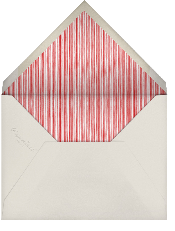 Winter Pine - Red - Paperless Post - Use your own logo - envelope back