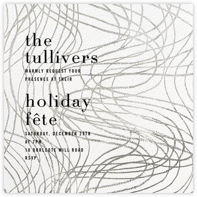 Scrawl - White - Kelly Wearstler - Holiday invitations