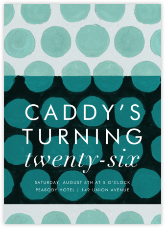 Sphere - Kelly Wearstler - Adult Birthday Invitations