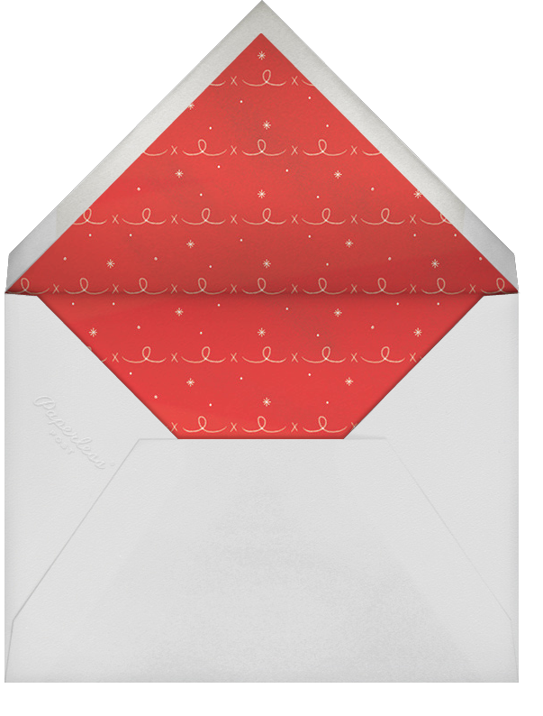 Christmas Cardinal - Navy - Paperless Post - Use your own logo - envelope back
