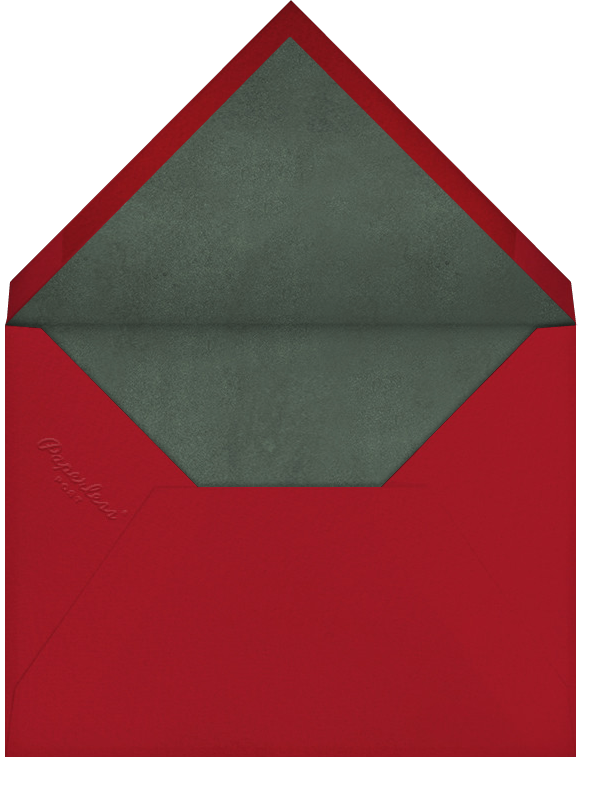 Arrangement in Red - Paperless Post - Use your own logo - envelope back