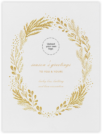 Winter Garden I (Card) - Gold - Paperless Post - Business Party Invitations