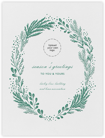 Winter Garden I (Card) - Hunter Green | tall